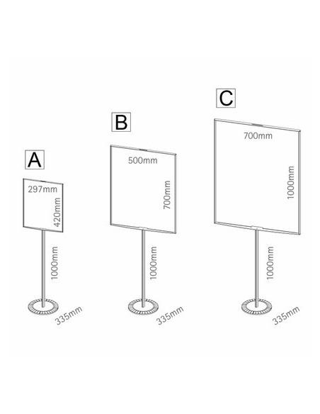 Stojak z tablicą STOPINFO różne wymiary